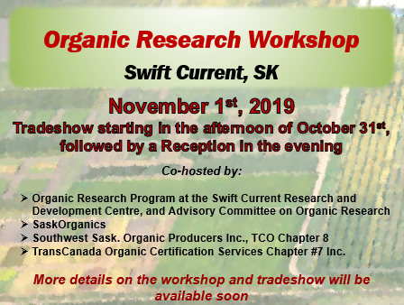 Organic Research Workshop   Pivot and Grow